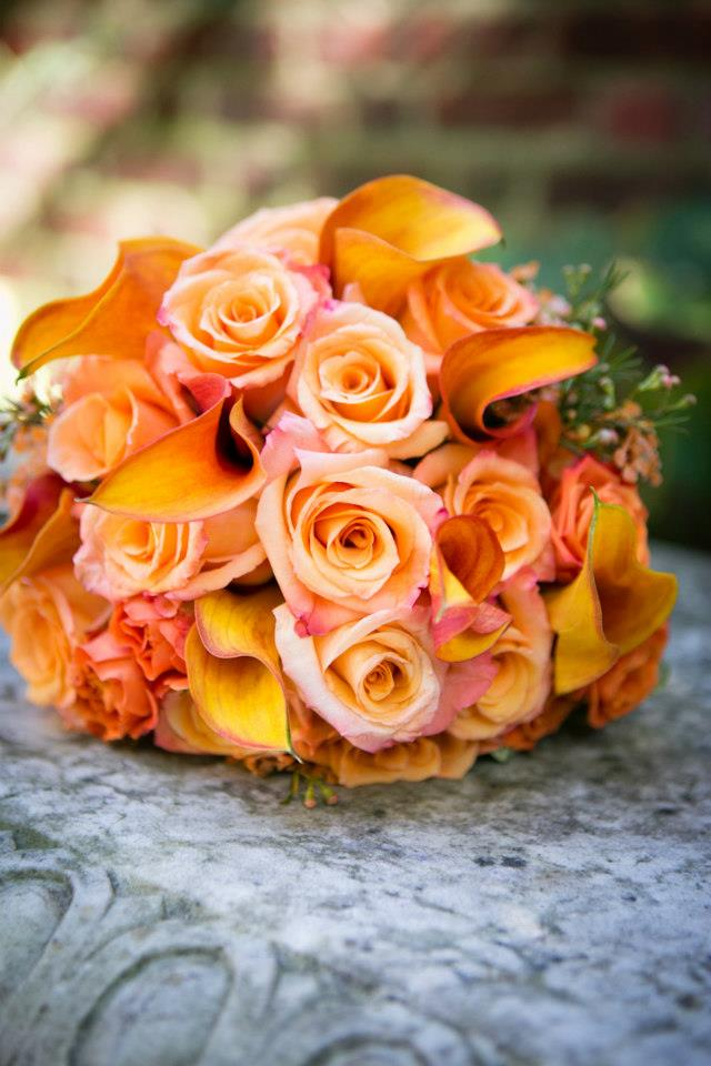 peach_rose_wedding_flowers