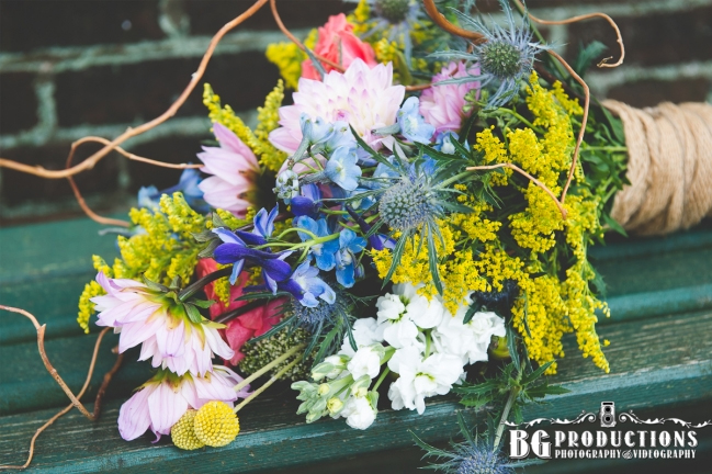sophisticated wildflower bouquet by photo by Bgproductions