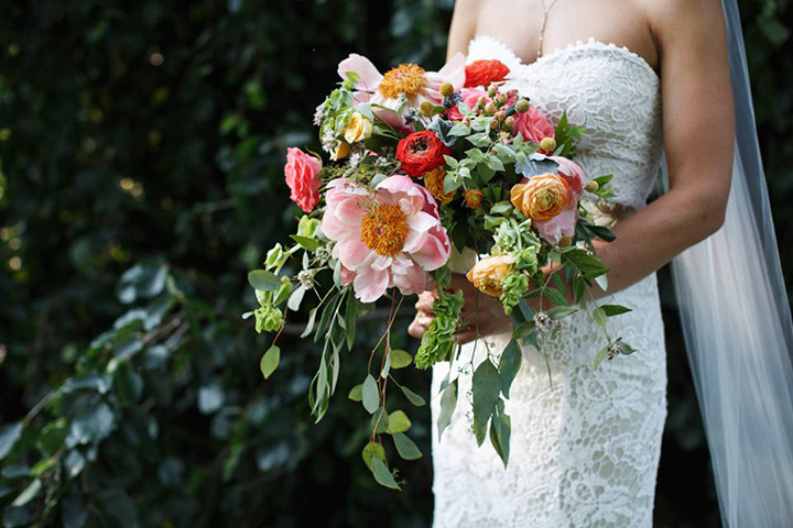 New Hope Amaranth Wedding Florist, Cascading Pink Spring Wedding Bouquet - Photography by Smirnov Weddings - http://www.smirnovweddings.com